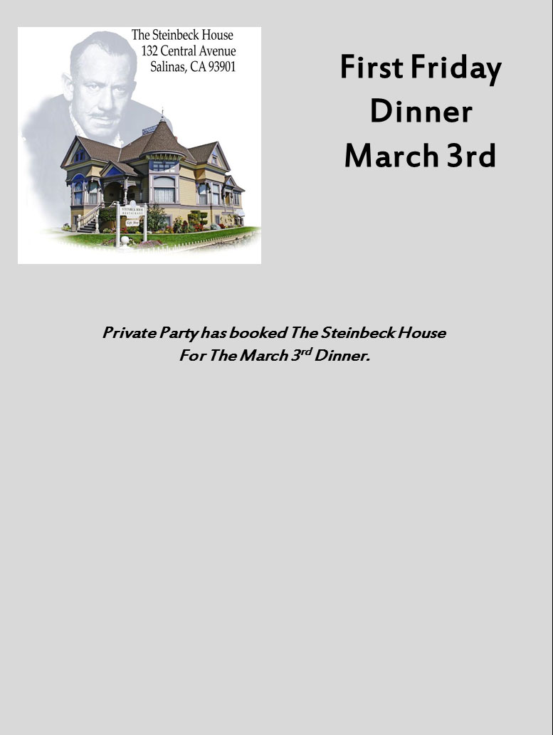 First Friday Dinner, March 2017